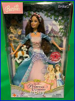 Barbie Princess And The Pauper ERIKA Singing Doll with Wolfie New In Box RARE