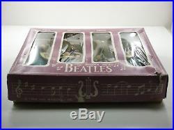 Beatles Original 1964 Car Mascots Bobblehead Set Complete In Box 8 Rare! Nodder