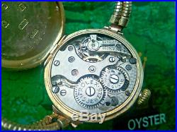 Beautiful Rare 1916 Ladies Solid 9k Gold Rolex Watch With The Original Box