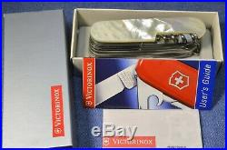 C. 2004 RARE NEW IN BOX MOTHER OF PEARL VICTORINOX SwissChamp Swiss Army Knife