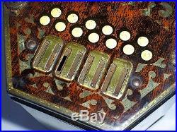 C1930 Rare Vintage Art Deco Period Jacobs Concertina/squeeze Box Biscuit Tin
