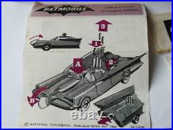 CORGI TOYS RARE BOXED 1st ISSUE ROCKET FIRING BATMOBILE 1966 No. 267 ALL ORIGINAL