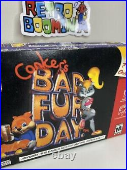 Conkers Bad Fur Day Original Box ONLY OEM Nintendo Brand NO GAME INCLUDED