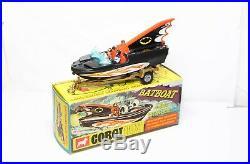 Corgi 107 Batman Batboat And Trailer In Its Original Box Nr Mint Vintage Rare