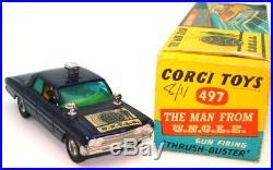 Corgi No. 497 Man From Uncle Oldsmobile 99% Mint In Original Box Ultra Rare