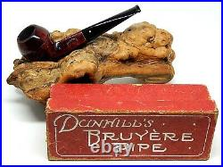 DUNHILL RARE 1919 PATENT BRUYERE BULLDOG SHAPE 47 ESTATE PIPE WithORIGINAL BOX