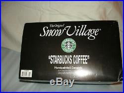 Dept 56 Original Snow Village Starbucks Coffee Shop 54859 Original Box (rare)