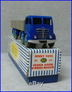 Dinky Toys 901 Foden Diesel 8 Wheel Wagon Blue/Fawn VN Mint Boxed Original RARE