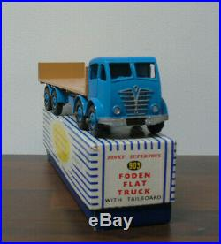 Dinky Toys 903 Foden Flat Truck Blue / Fawn 2nd Mint Boxed Original RARE