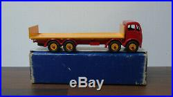 Dinky Toys 903 Foden Flat Truck Red / Yellow 2nd Mint Boxed Original RARE