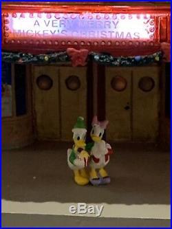 Disney Village Light Up CINEMA with Donald & Daisy RARE HTF in Original Box