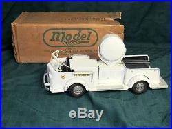 Doepke American Lafrance Searchlight Fire Truck-near Mint Original In Box-rare