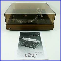 Dual CS 1257 Belt Drive Stereo Turntable Cartridge Dust Cover Original Box RARE