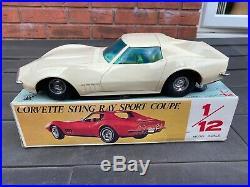 Eldon Japan 1968 Chevrolet Corvette In Its Original Box Near Mint Working Rare