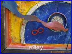 Ernest Posey Sculpture Painting Assemblage 3d Pop Art Abstract Vintage Rare Box