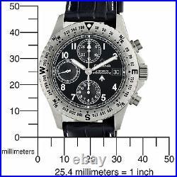 Eterna Airforce Mens Swiss Made Automatic Chronograph Pilot Watch RARE $4995 NEW