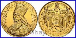 Ethiopia, Gold Talari Haile Selassie I Coronotion Ee 1923 Original Box, Rare