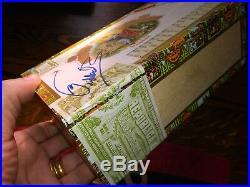 FIDEL CASTRO signed autographed ROMEO & JULIETA Cigar Box Tax Stamped RARE