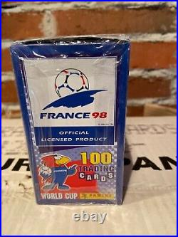 Factory sealed box 1998 Panini France 98 World Cup Soccer Trading Cards RARE
