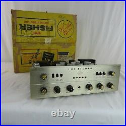 Fisher X-202-B Vintage Stereo Tube Amplifier with Original Box Estate Find RARE