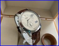 Glashutte Original 90-04-02-02-04 PanoMaticVenue GMT Watch-Box/Papers- Rare