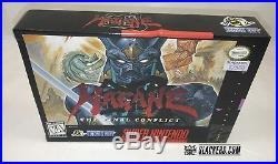 HAGANE Final Conflict (Super Nintendo) SUPER RARE BOX! Original & Authentic