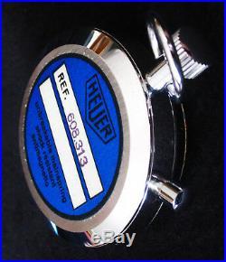 Heuer Trackstar 7 Jewel Stopwatch, Nos New In Original Box, Rare Swiss Timer
