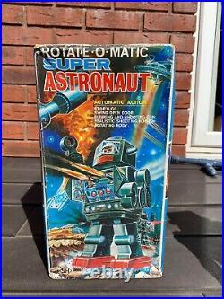 Horikawa Tinplate Battery Operated Super Astronaut Robot In Original Box RARE