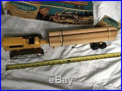 Hubley Caterpillar Log Truck Large Scale Scarce 21 with original box RARE NICE