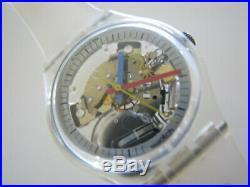 JELLY FISH GK100RE2! Skeleton SEE THRU Swatch w Original Box/Tags! NOS-RARE