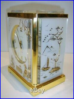 Jaeger LeCoultre Atmos Clock Original Box Paper Chinese Chinoisserie Design RARE