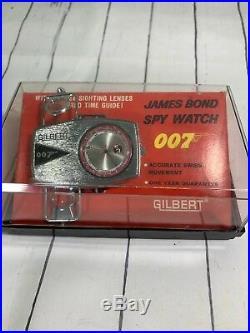 James Bond 007 Spy watch 1965 Gilbert With ORIGINAL BOX WOW Rare