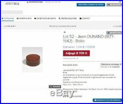 Jean Dunand. Rare genuine art deco box dinanderie. Signed