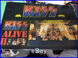 KISS 1977 ALIVE 2 HUGE PROMO DISPLAY WithBOX VG TEARS PINHOLES RARE HTF VTG
