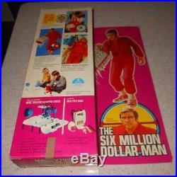 Kenner #65000 Six Million Dollar Man 1975 Original Bionic Man Figure in Box RARE