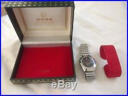 LED LCD 1970s RADO Quartz. Swiss. Digital. Original. RARE Watch + Box