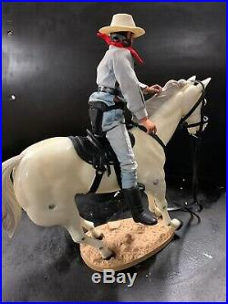 LONE RANGER Figurine & SILVER the Horse in Original Box 1970s Gabriel Toy RARE