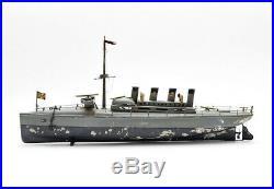Large Live-Steam Torpedo Boat made by Bing / Germany w. Rare Original Box