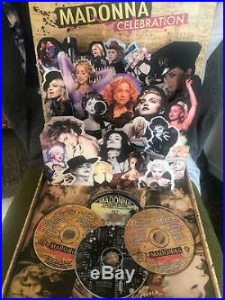 Madonna Celebration Pop-Up Promo Box 4 CD DVD (Rare)