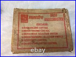 Maestro Bass Brassmaster Bb-1 Rare, Vintage, fuzz Pedal ORIGINAL bOX