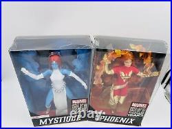 Marvel Barbie Set Of 2 Mystique And Dark Phoenix Xmen Rare New Damaged Box Sale
