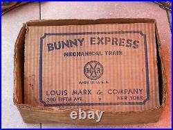 Marx Bunny Express Hopper Train, Cars and box Original Rare Nice Litho