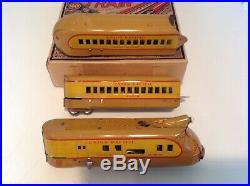Marx prewar M10,000 Streamliner Boxed Set 1940's Original Nice & Rare Colors