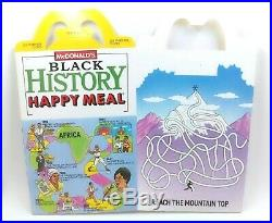 McDonalds Celebrates Black History Test Market Happy Meal Box 1988 Rare