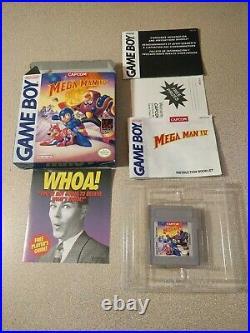 Mega Man IV 4 Gameboy Complete with Original Box Manual Game GREAT RARE