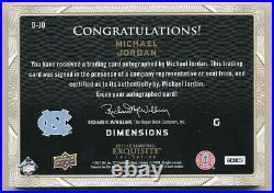 Michael Jordan 2011/12 Ud Exquisite Dimensions Shadow Box Autograph Sp Auto Rare