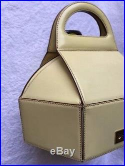 Moschino Very Rare Vintage Antica Pasticceria Cake Box Handbag Adorable