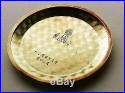 Movado Vintage Chronograph M90 18k Gold Box Booklet Original All! Very Rare