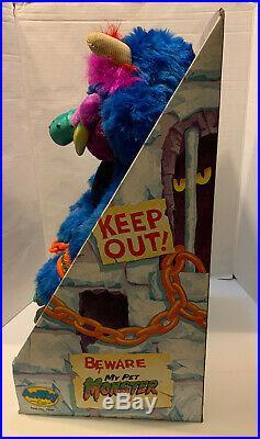 My Pet Monster, Vtg ORIGINAL 1986 BOX, AmToy, With Shackles/handcuffs, RARE