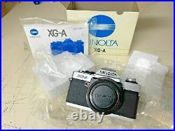 NEW IN ORIGINAL BOX RARE Minolta XGA SLR Film Camera Body Chrome & Black